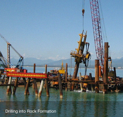 Drilling into Rock Formation